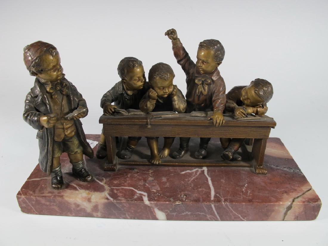 Franz BERGMAN (1838-1894) rare Vienna bronze children