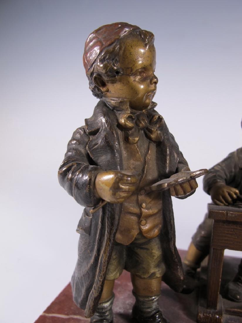 Franz BERGMAN (1838-1894) rare Vienna bronze children - 2