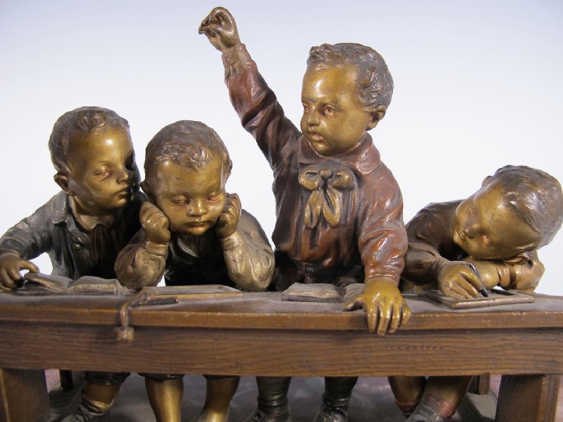 Franz BERGMAN (1838-1894) rare Vienna bronze children - 3