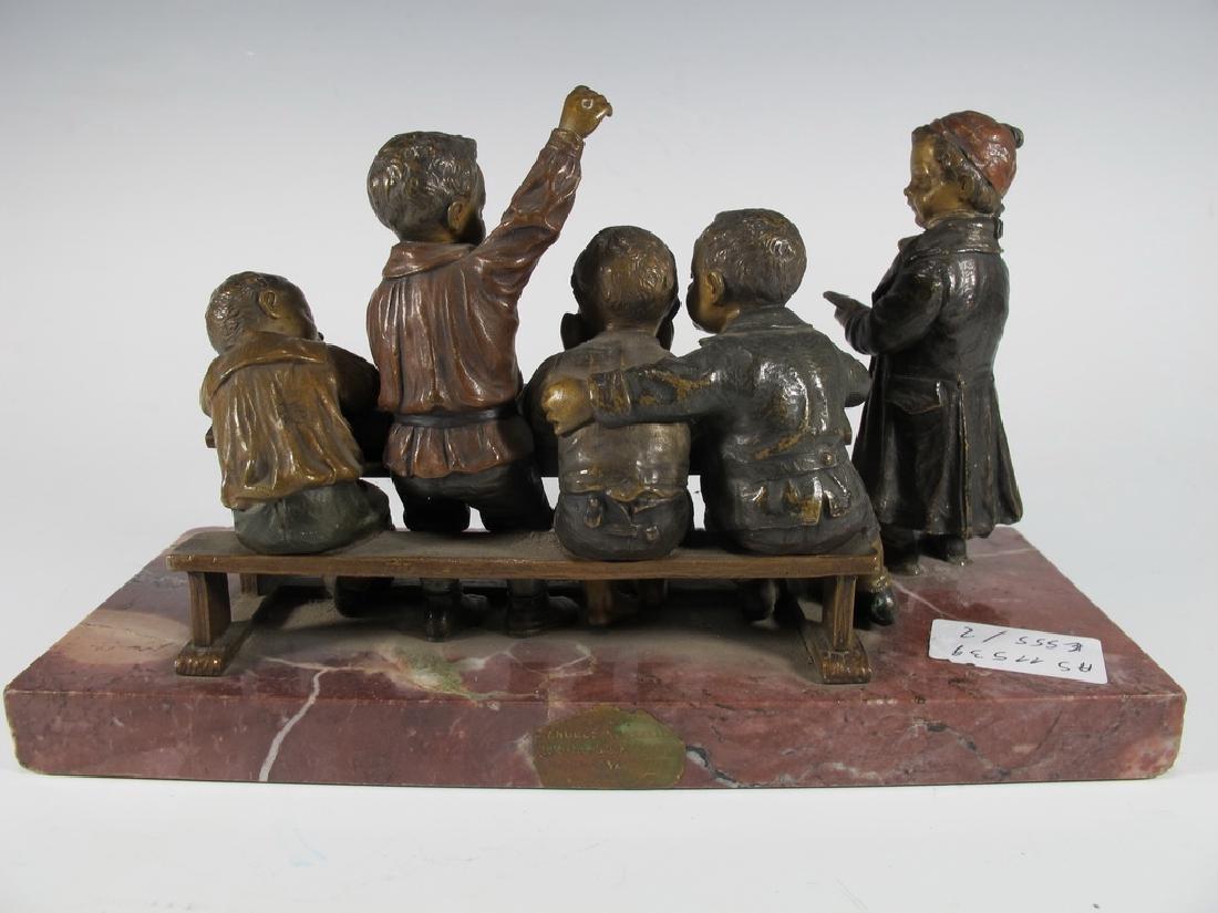Franz BERGMAN (1838-1894) rare Vienna bronze children - 4