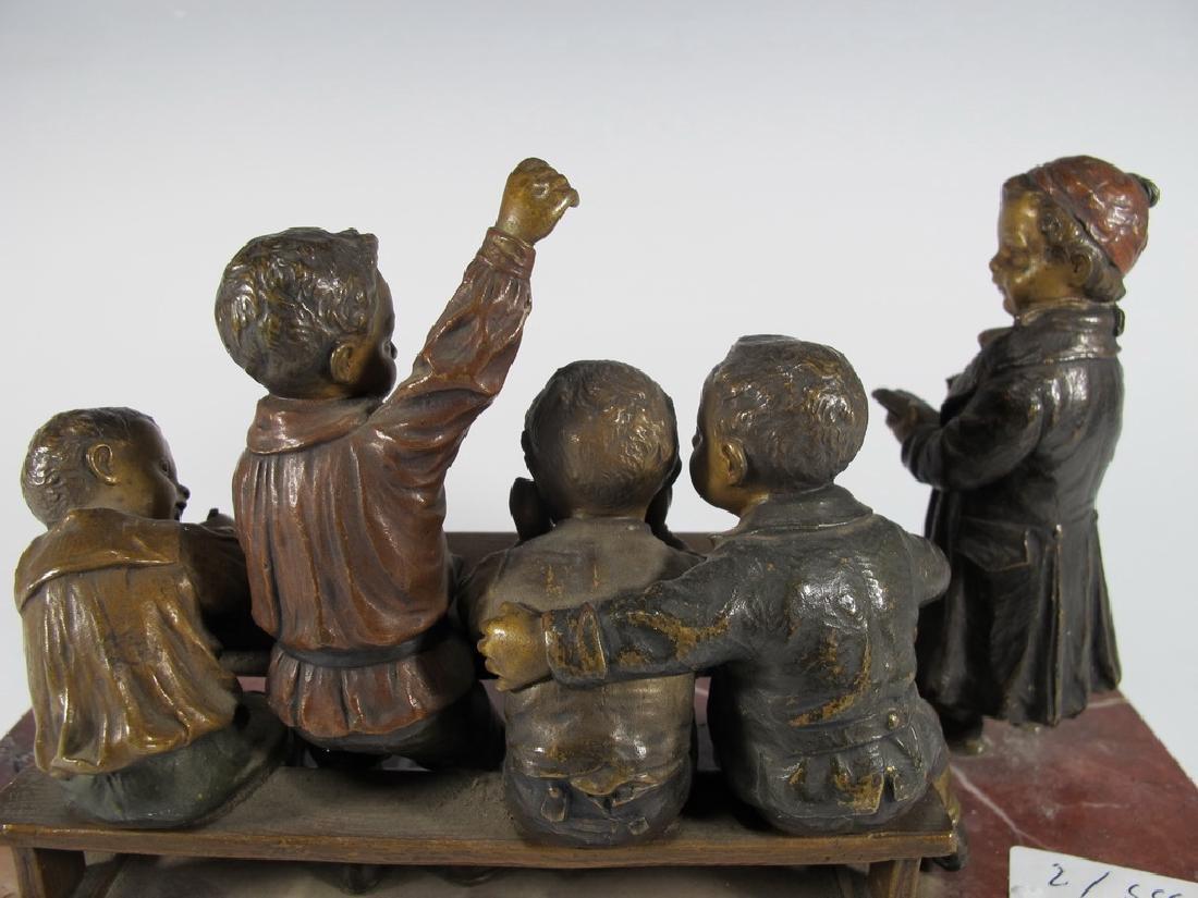 Franz BERGMAN (1838-1894) rare Vienna bronze children - 5