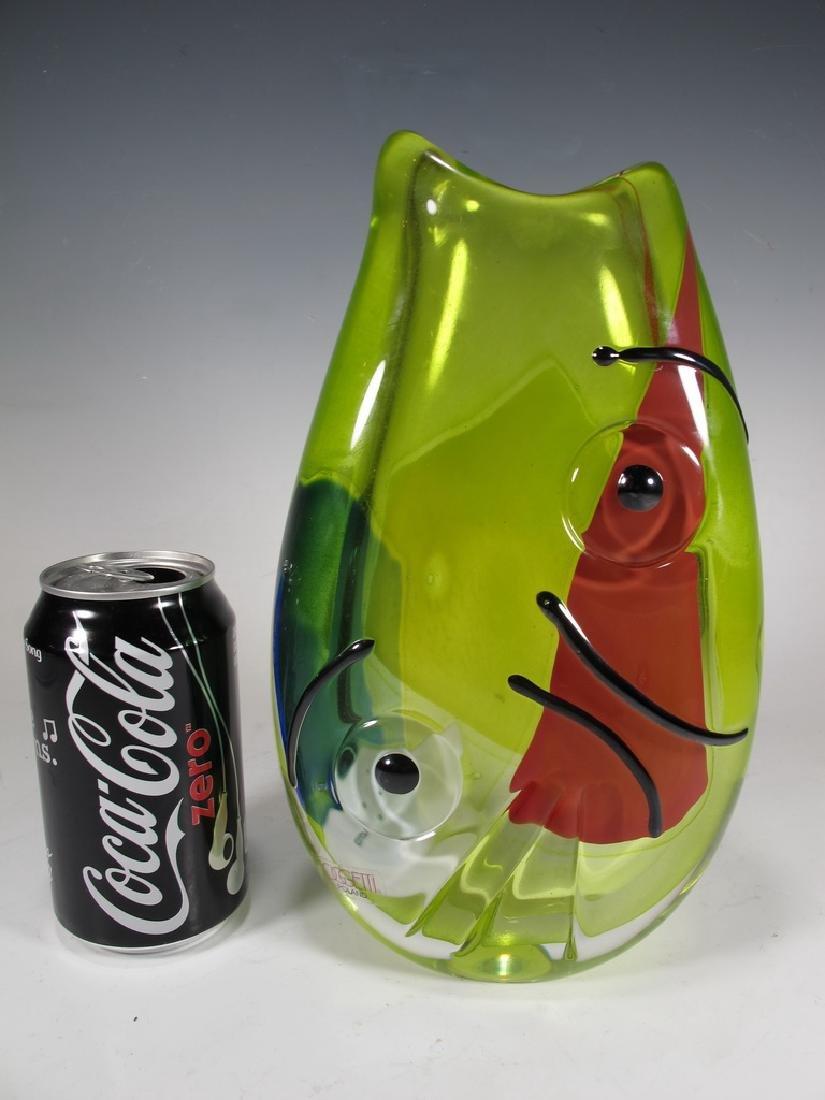 Oggetti, Poland murano glass vase, signed