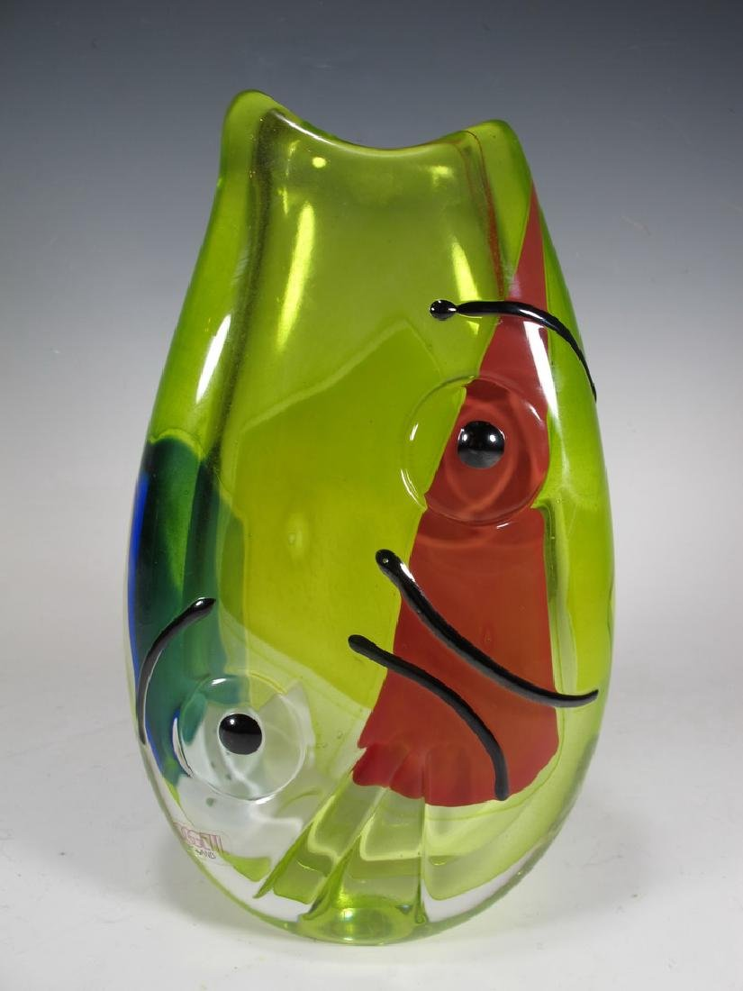 Oggetti, Poland murano glass vase, signed - 2
