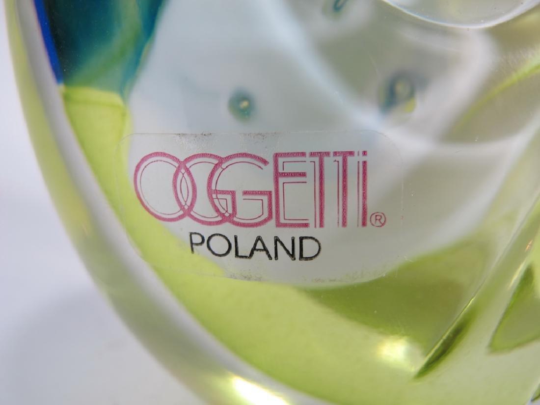 Oggetti, Poland murano glass vase, signed - 3