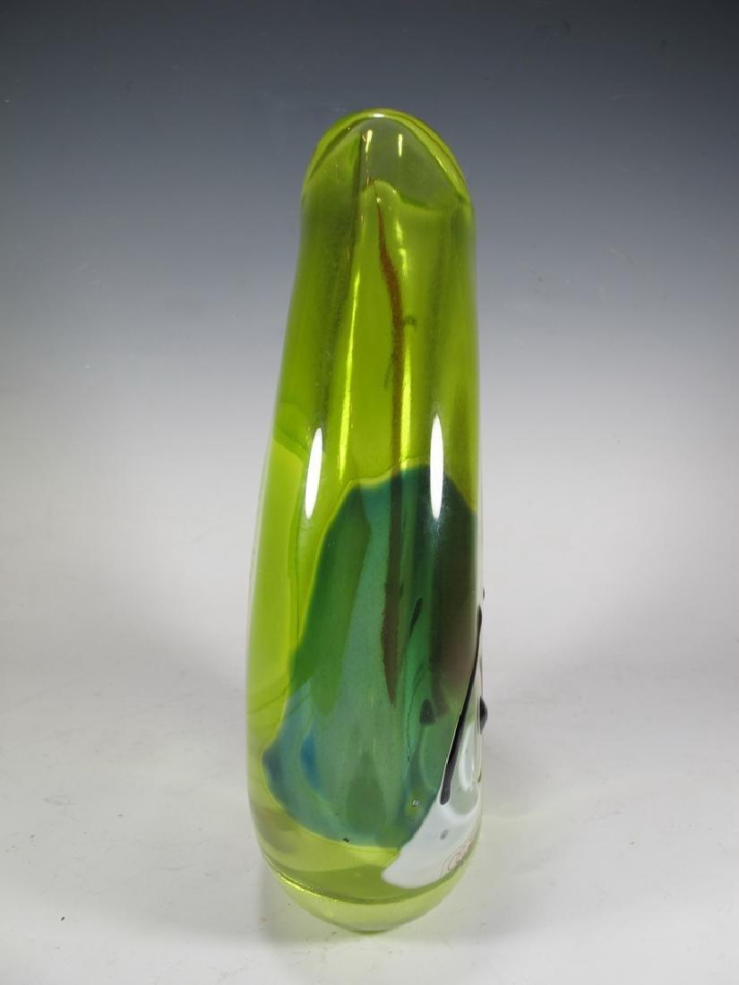 Oggetti, Poland murano glass vase, signed - 4