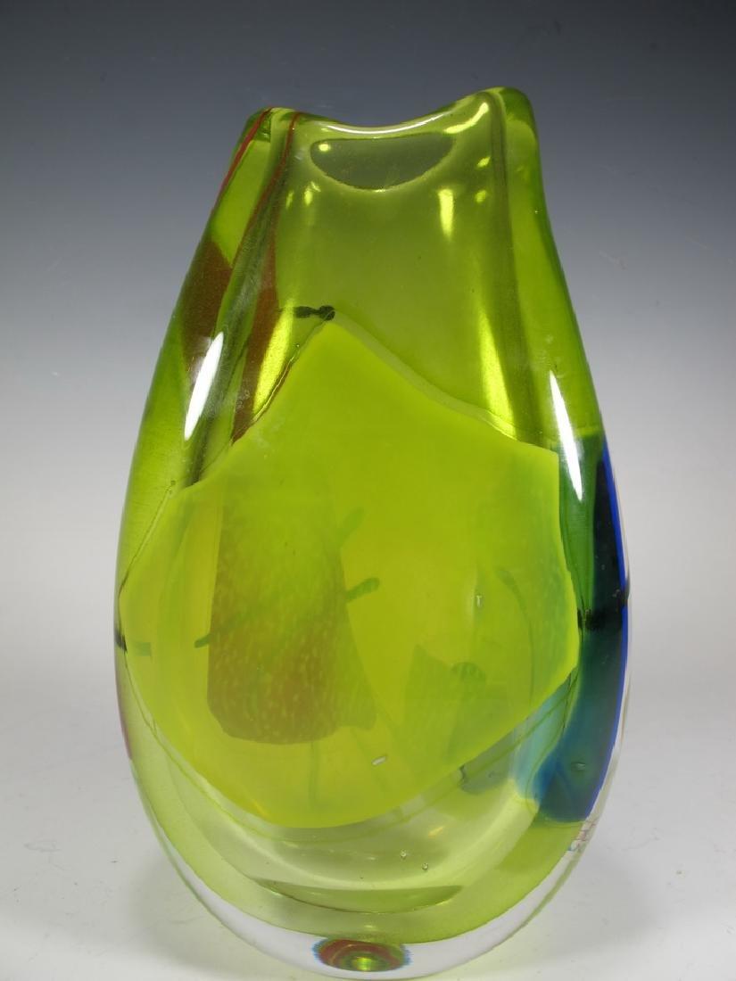 Oggetti, Poland murano glass vase, signed - 5
