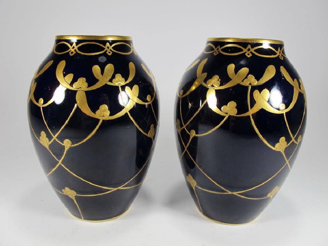 Antique Limoges pair of porcelain vases