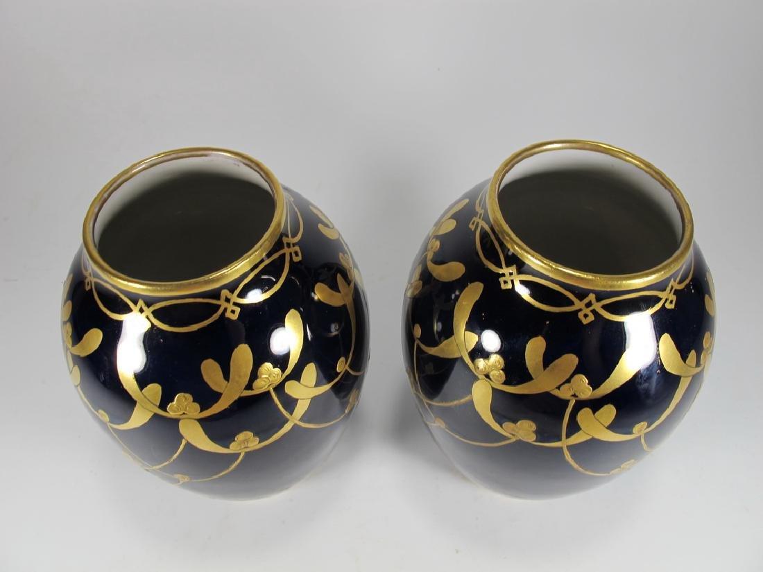 Antique Limoges pair of porcelain vases - 2
