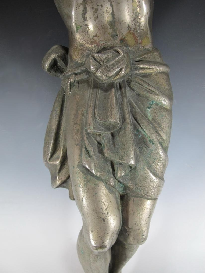 Antique huge bronze Jesus sculpture - 3
