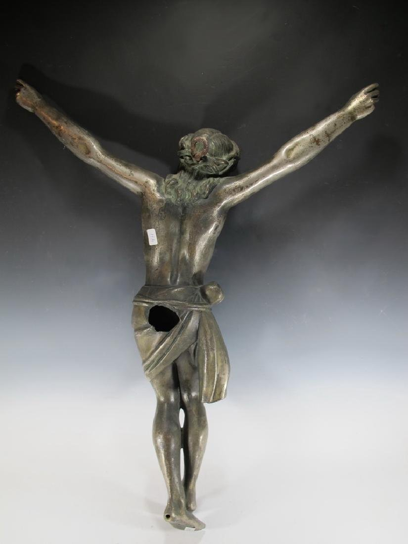 Antique huge bronze Jesus sculpture - 7