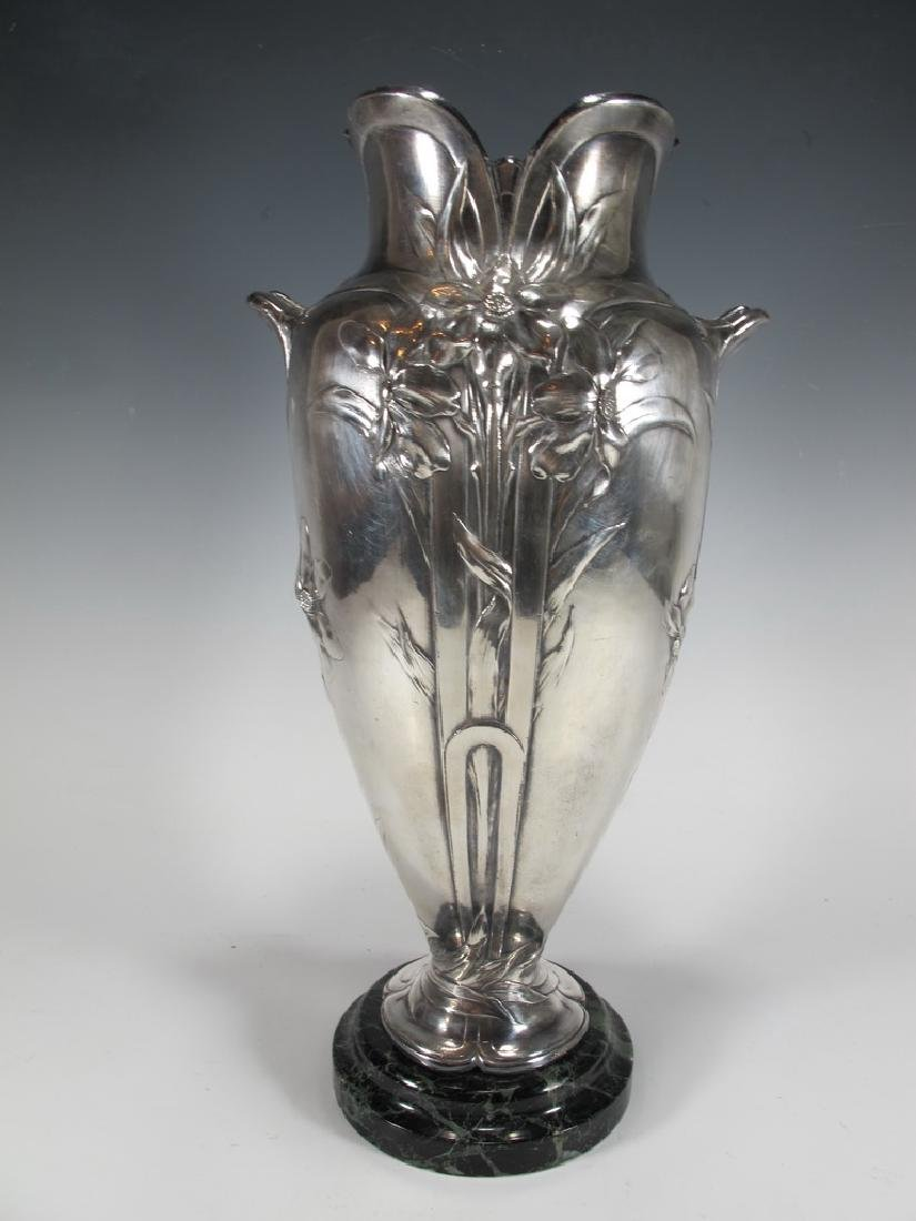 Antique French Cristofle Gallia silverplated vase - 2