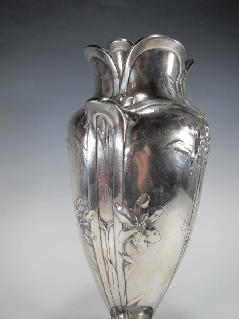 Antique French Cristofle Gallia silverplated vase - 5