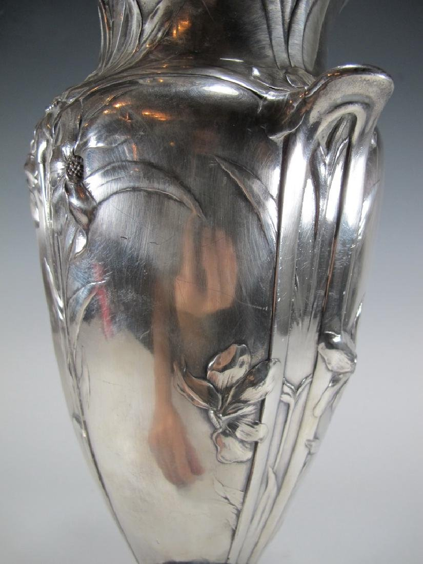 Antique French Cristofle Gallia silverplated vase - 7