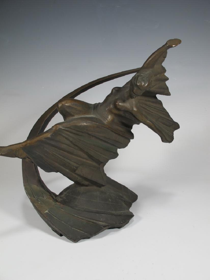 Antique Russian bronze sculpture, signed