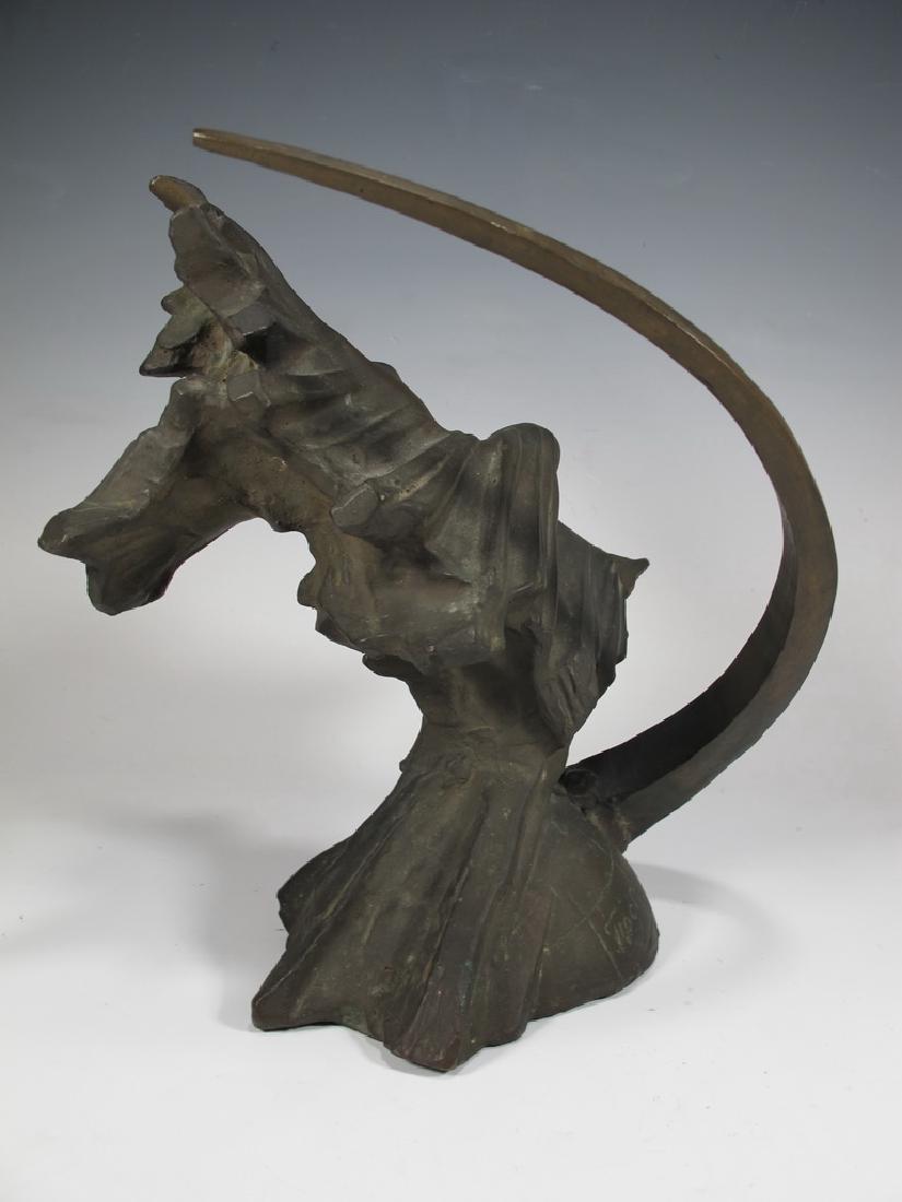 Antique Russian bronze sculpture, signed - 5