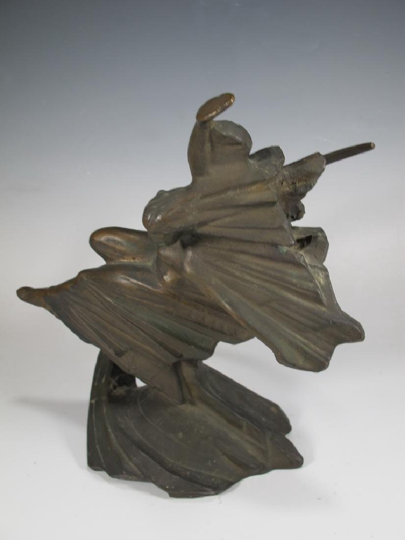 Antique Russian bronze sculpture, signed - 6