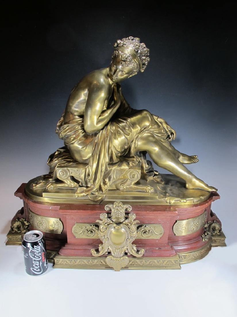 Mathurin MOREAU (1822-1912) SAPPHO gilt bronze