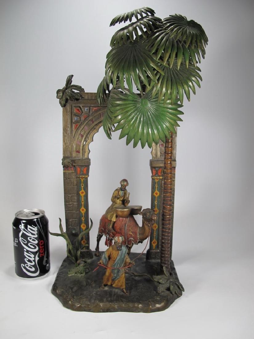 Antique Austrian Orientalist bronze lamp