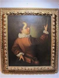 Huge 19th C. European oil on canvas painting
