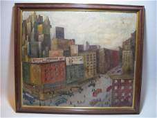 Attributed to Ralph FASANELLA oil on canvas painting