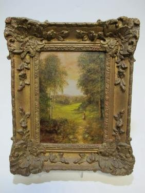 Antique European Oil On Canvas, Signed