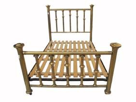 Antique English Bronze Full Bed Frame