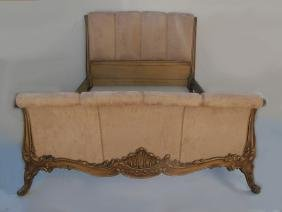 Antique French Louis Xv Style Full Size Bed
