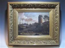 Italian 18th C. Flemish School oil on canvas painting
