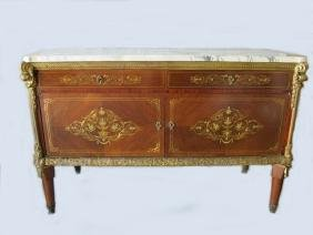 Antique Linke Quality French Inlaid & Bronze Commode