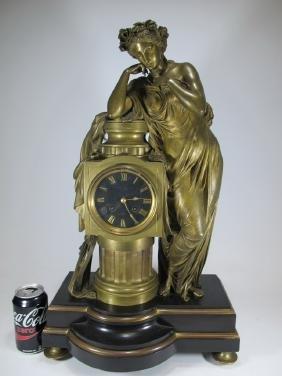 Charpentier, Paris & Japy Freres Bronze Clock