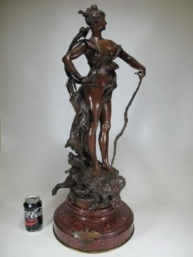 Carrier-belleuse (1824-1887) Bronze Statue