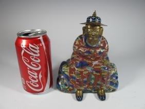 Antique Buddha Cloisonne Statue