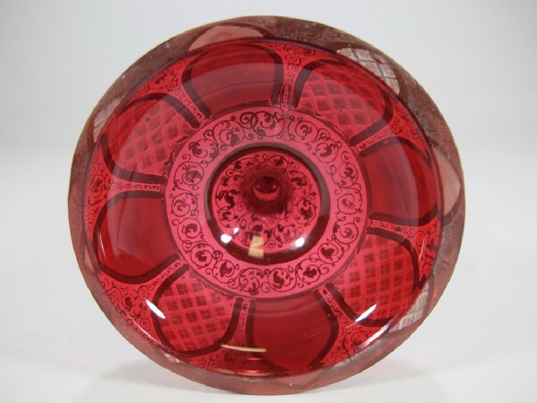 Antique European enamel on glass orchid vase - 7
