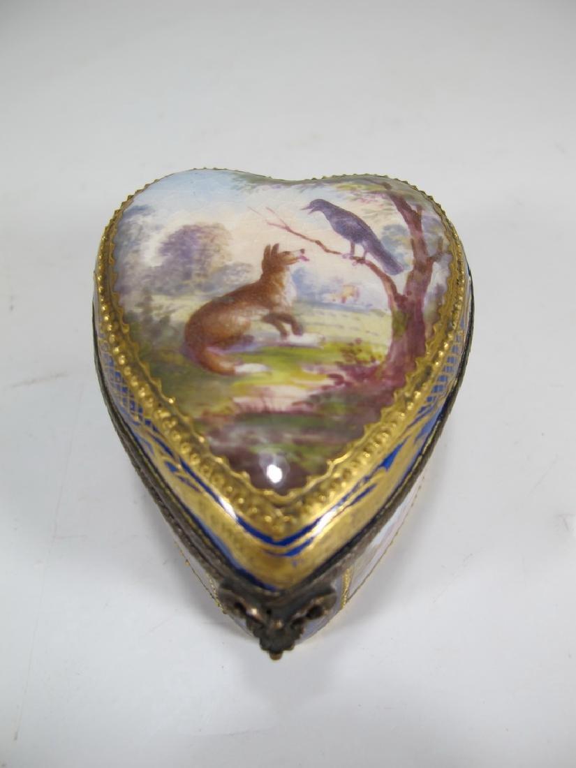 Antique French Sevres miniature porcelain box