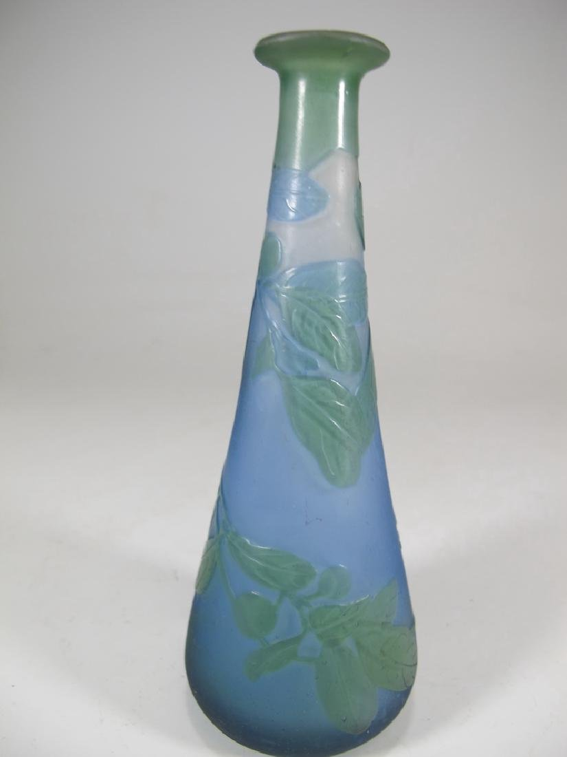 Antique Galle cameo glass vase, signed - 5