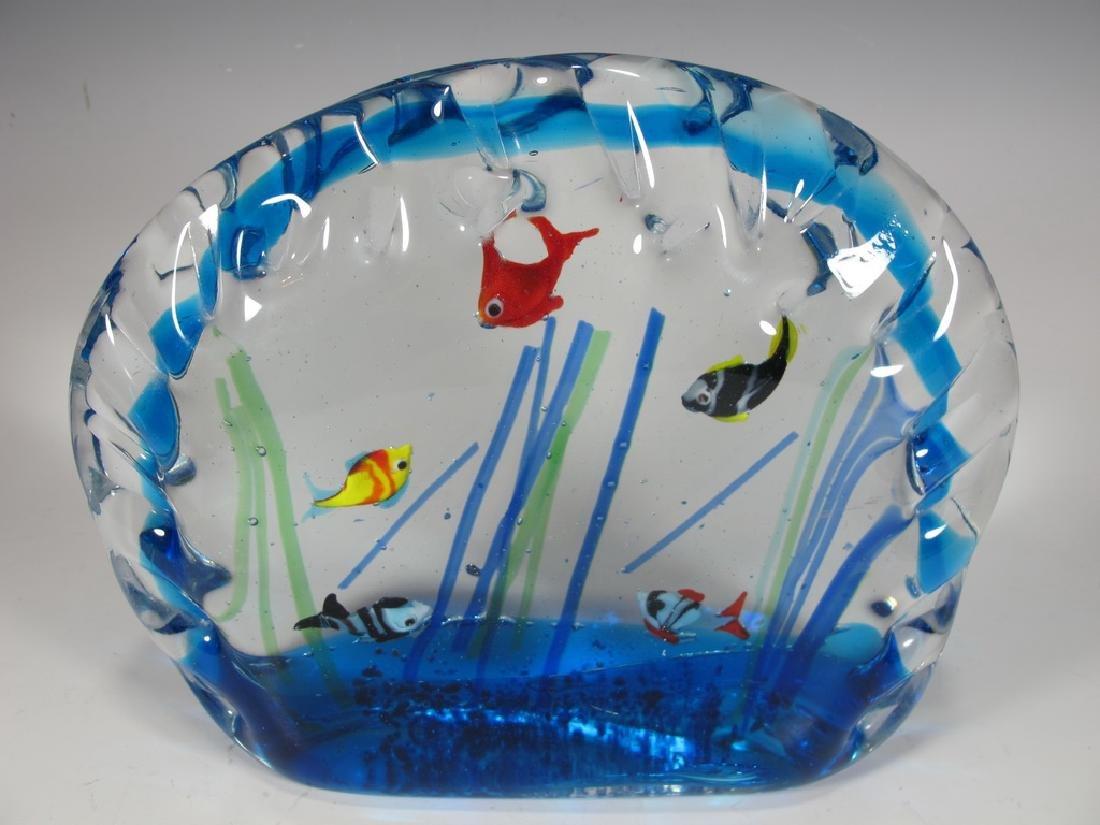 Sandro FRATTIN Art Glass fishes murano - 2