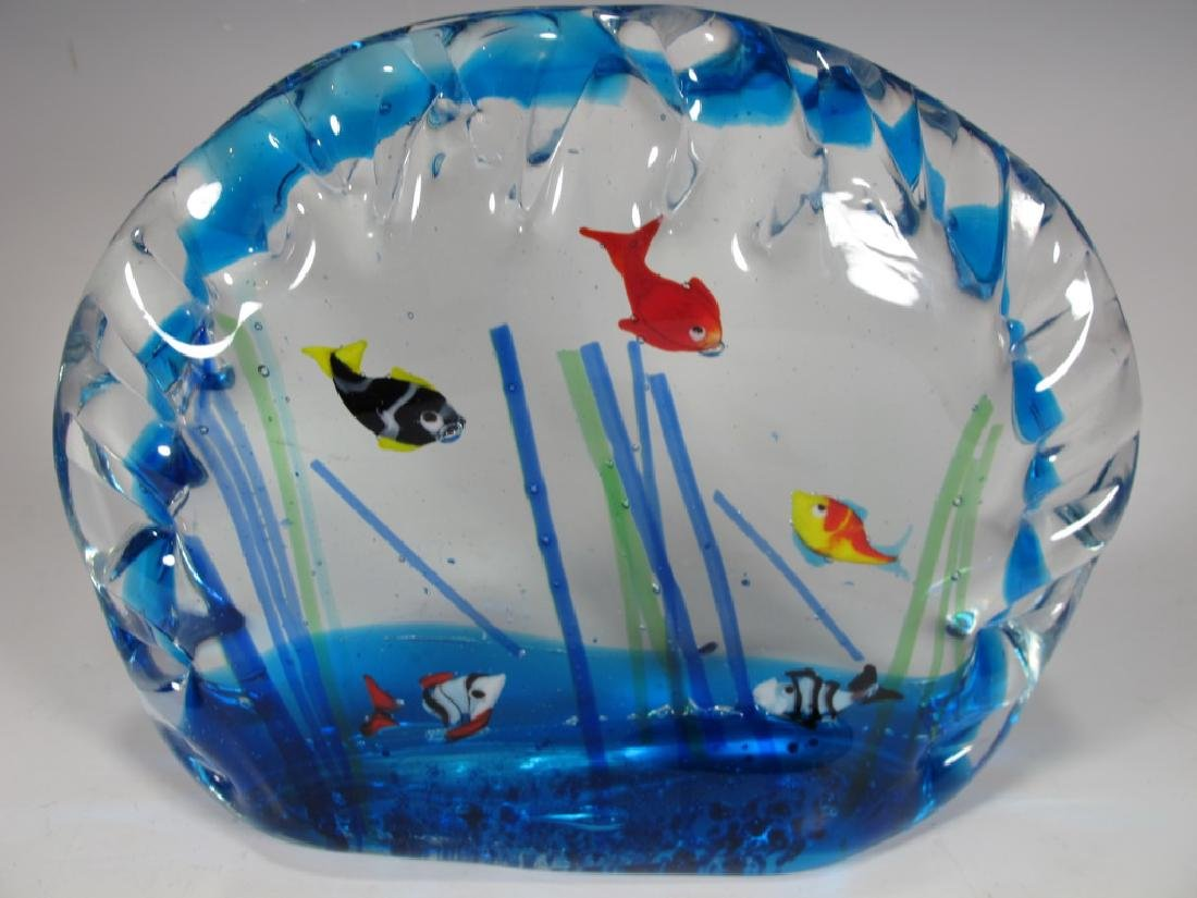 Sandro FRATTIN Art Glass fishes murano - 5