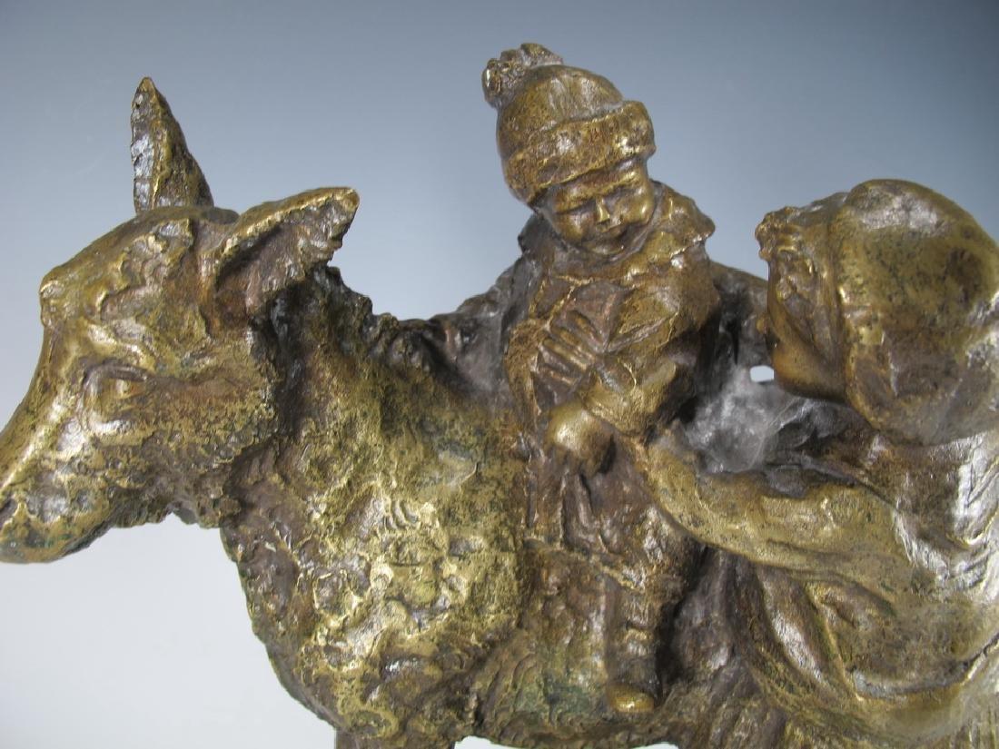 Old Italian Bronze Figure of Mother & Child - 2