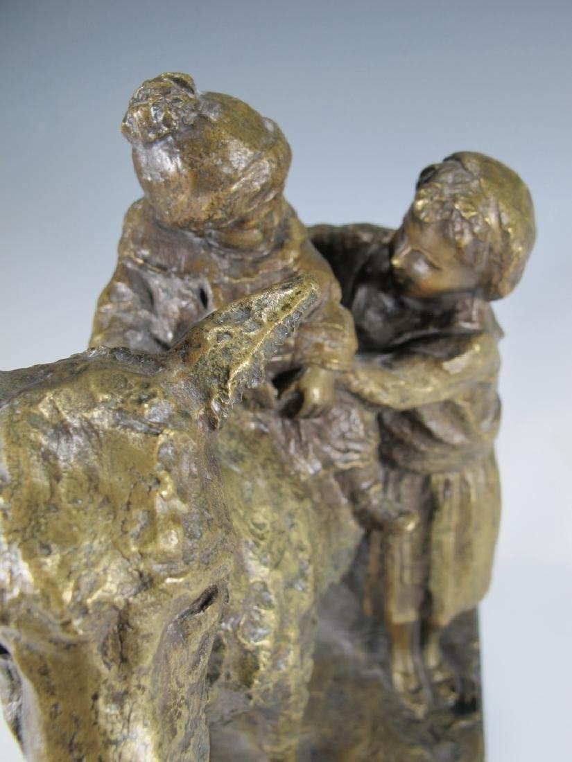 Old Italian Bronze Figure of Mother & Child - 4