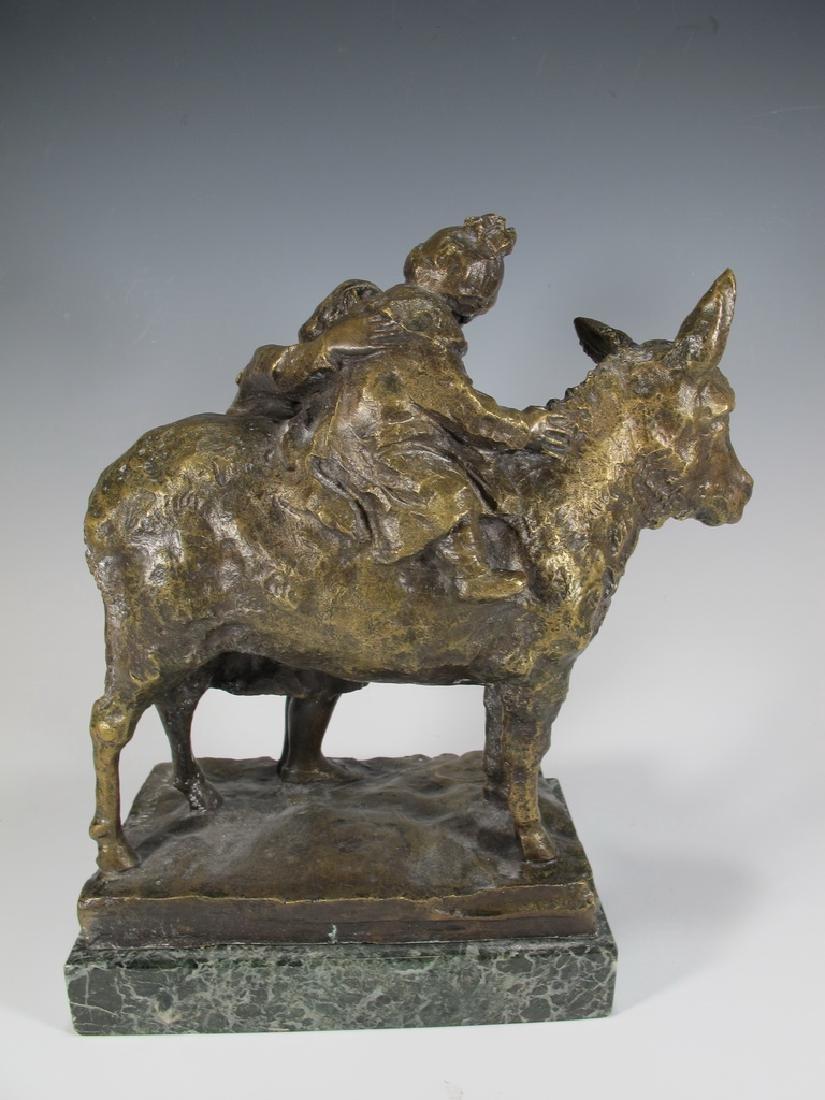 Old Italian Bronze Figure of Mother & Child - 5