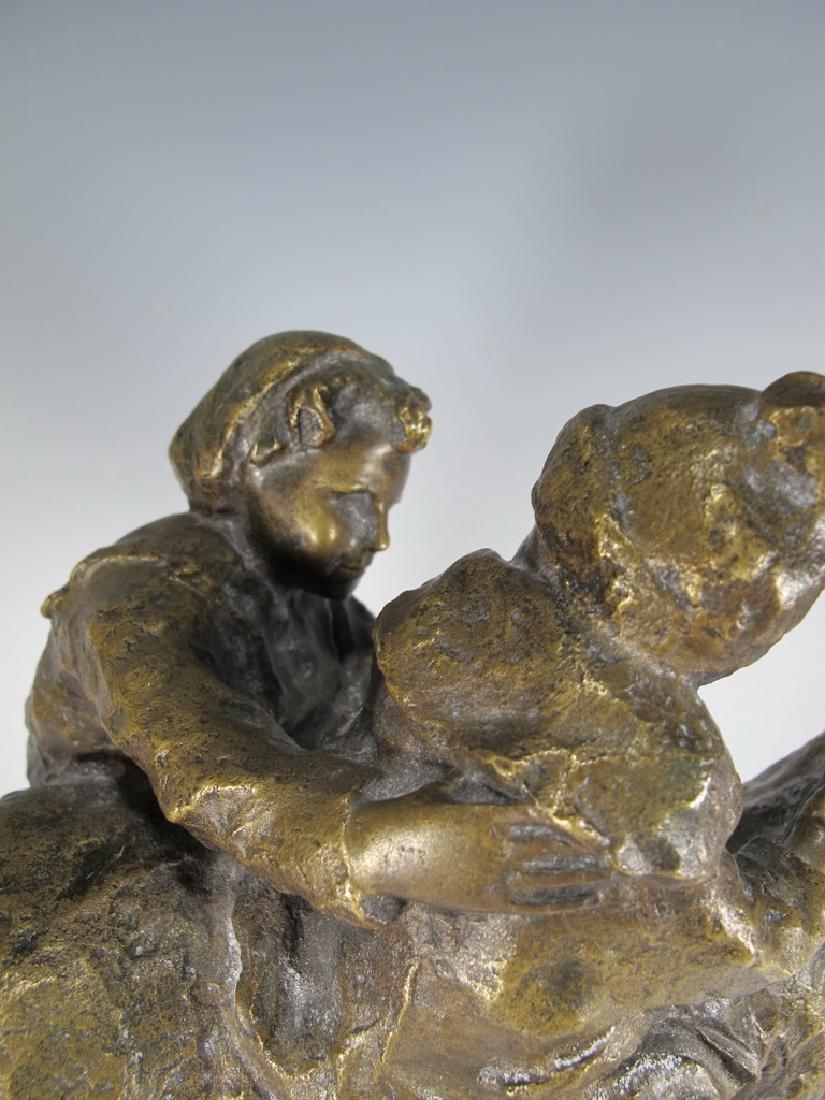 Old Italian Bronze Figure of Mother & Child - 6
