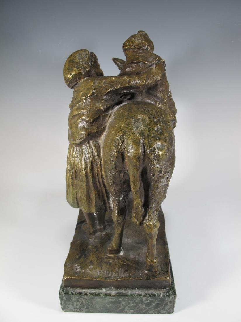 Old Italian Bronze Figure of Mother & Child - 7