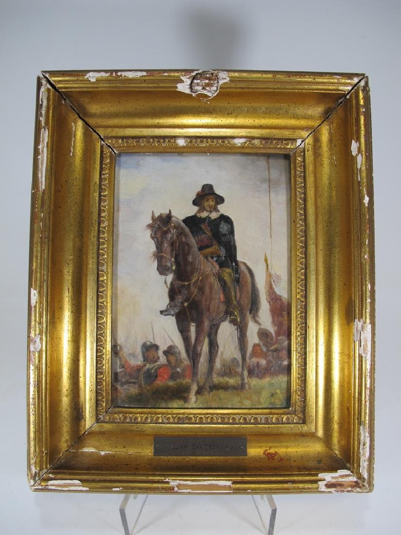 Antique English oil on canvas painting, W. Davidson