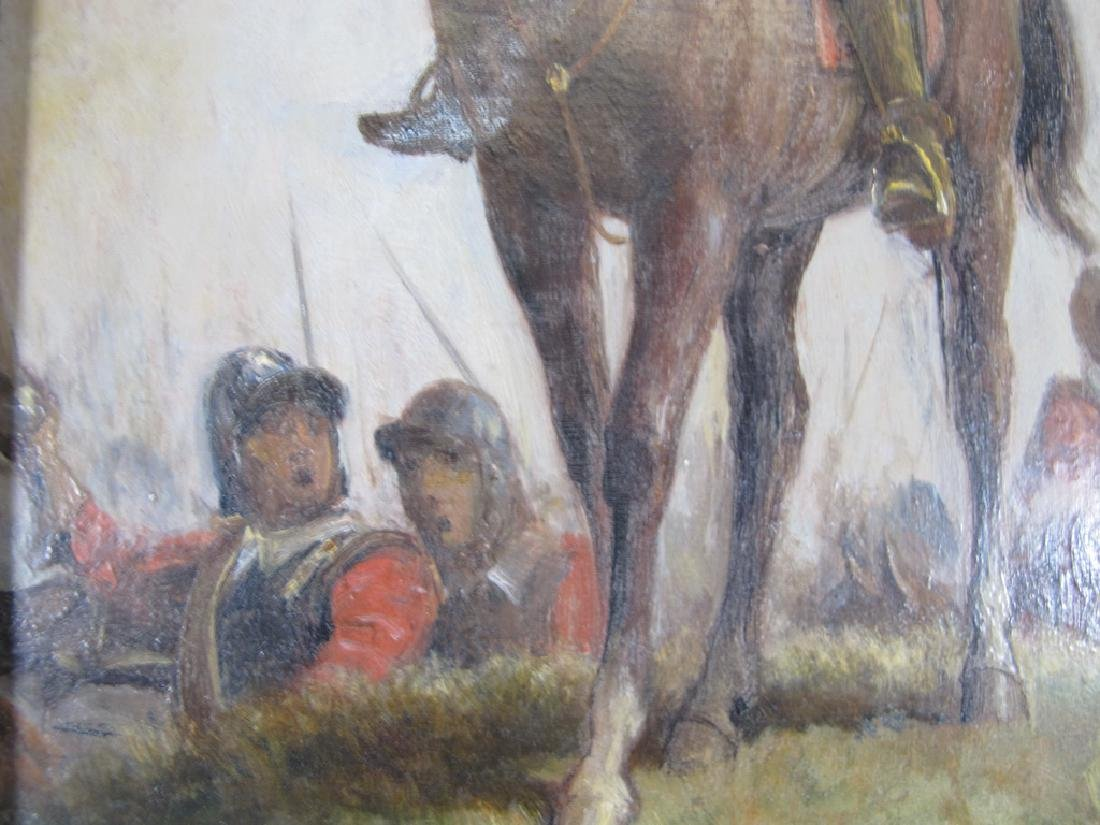 Antique English oil on canvas painting, W. Davidson - 4