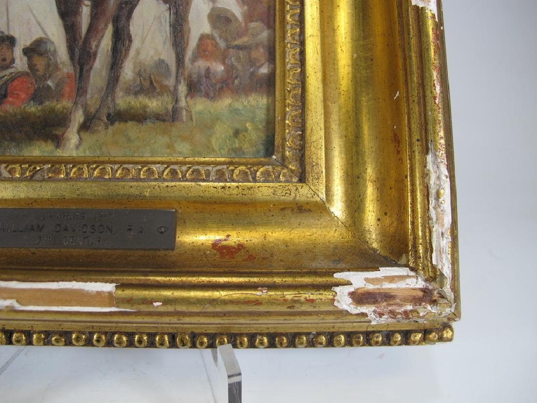 Antique English oil on canvas painting, W. Davidson - 6