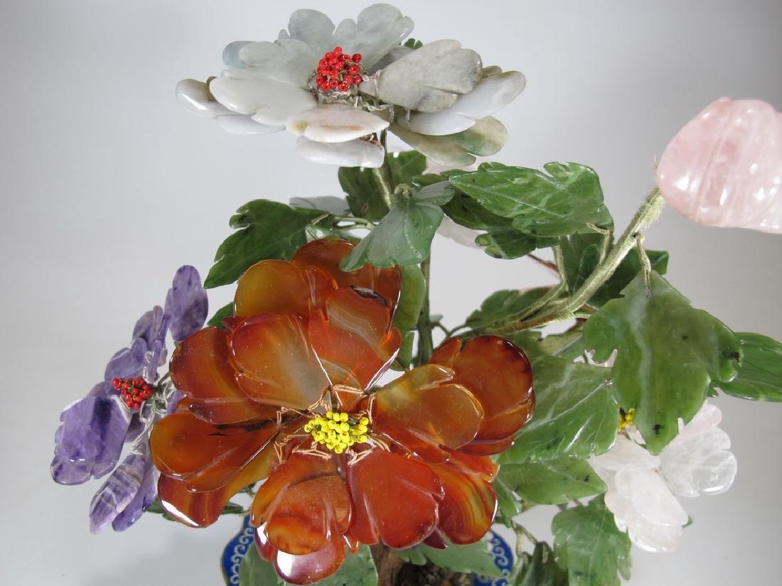 Vintage Chinese cloisonne & stones plants - 2