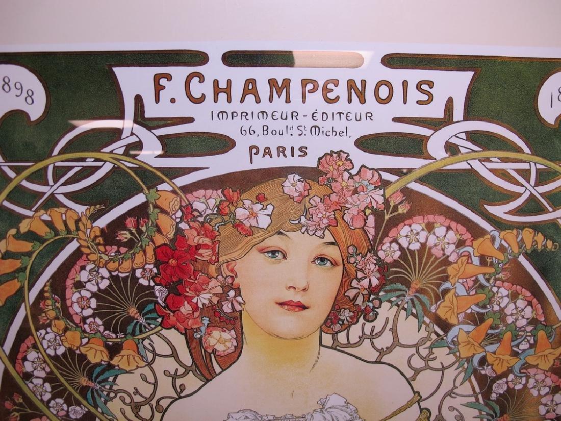 Vintage Alphonse Mucha framed poster - 2