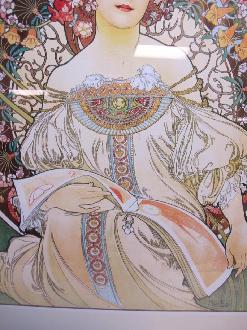 Vintage Alphonse Mucha framed poster - 3