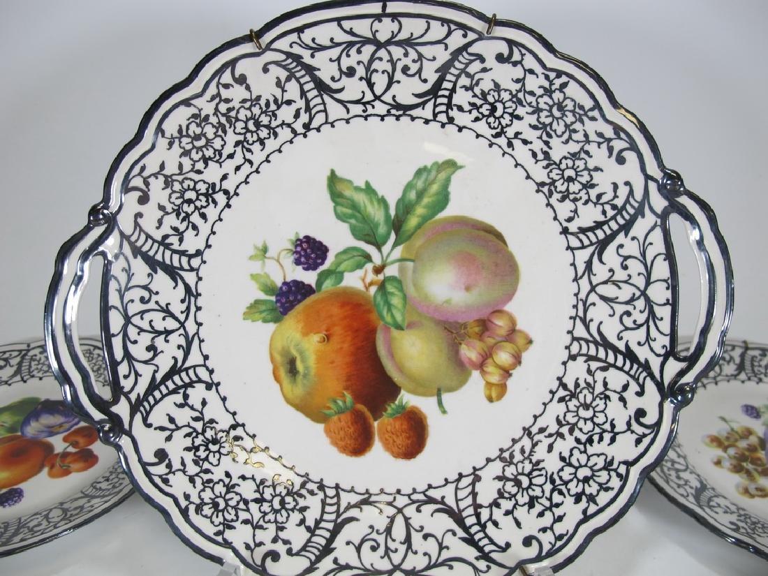 Set of 7 pcs Italian Ginori porcelain tray & plates - 2