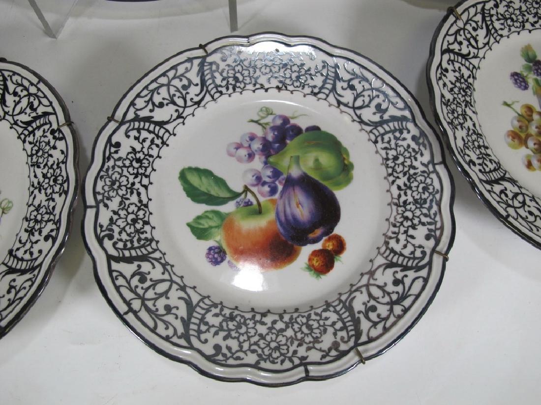 Set of 7 pcs Italian Ginori porcelain tray & plates - 3